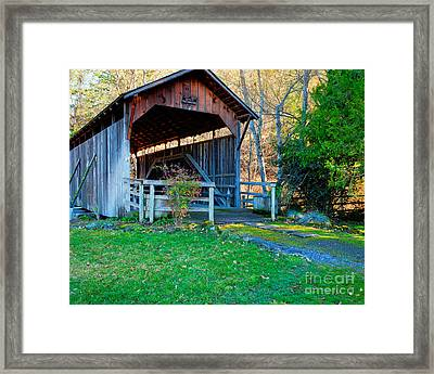 Lost Creek Bridge Framed Print by Jim Adams