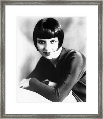 Louise Brooks, Late 1920s Framed Print by Everett