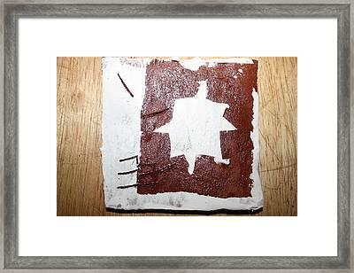 Love - Tile Framed Print by Gloria Ssali