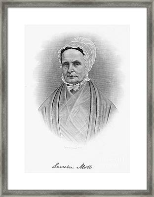 Lucretia Coffin Mott Framed Print