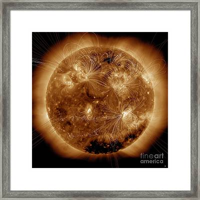 Magnetic Field Lines On The Sun Framed Print