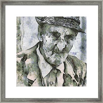 Man Portrait Framed Print by Odon Czintos