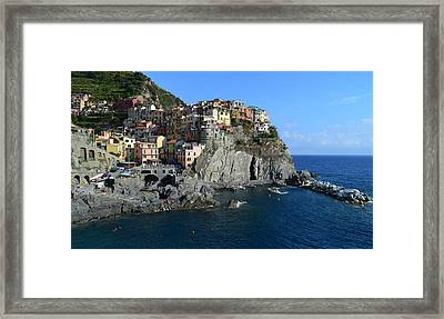 Manarola Framed Print by Barbara Walsh