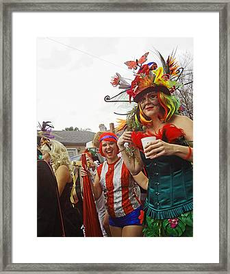 Mardi Gras Day In New Orleans Framed Print