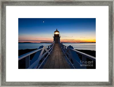 Marshall Point Light Framed Print by Brian Jannsen