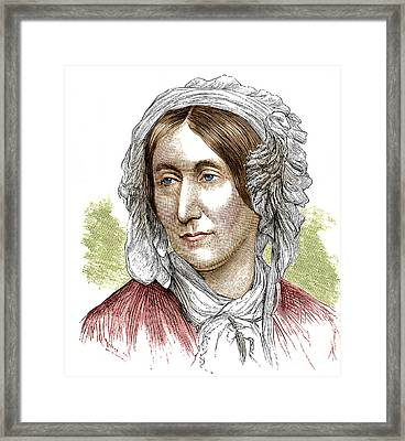 Mary Somerville, Scottish Polymath Framed Print by Science Source