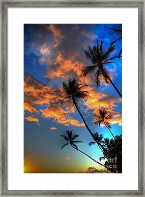 Maui Sunset Framed Print by Kelly Wade