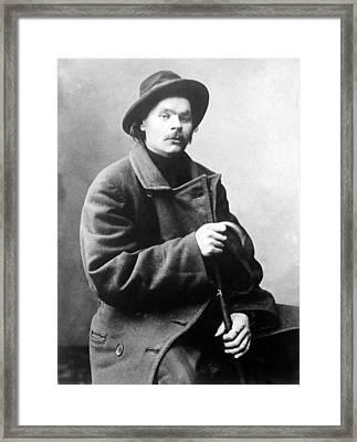 Maxim Gorky 1868-1936 Wrote Framed Print