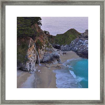 Mcway Falls - Big Sur Framed Print by Stephen  Vecchiotti