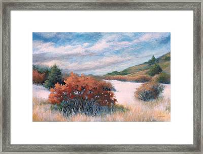 Meandering Near Prescott Framed Print by Peggy Wrobleski