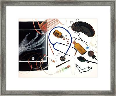 Medical Treatment, Conceptual Image Framed Print by Tek Image