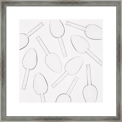 Medicine Spoons Framed Print by Kevin Curtis