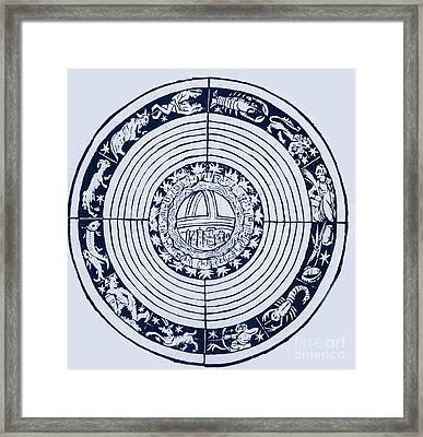 Medieval Zodiac Framed Print by Science Source