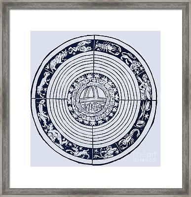 Medieval Zodiac Framed Print by Science Source