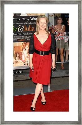 Meryl Streep At Arrivals For Julie & Framed Print by Everett