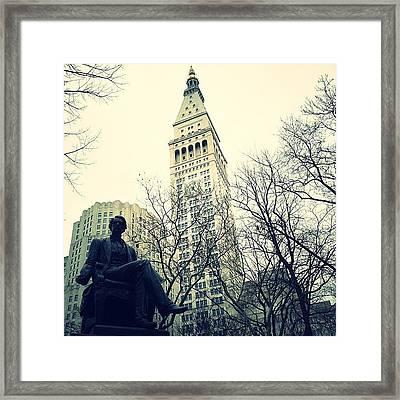 Metlife Tower Framed Print