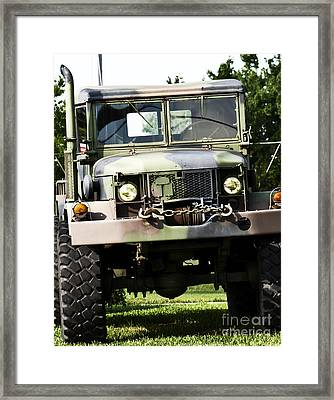 Military Truck Framed Print by Blink Images