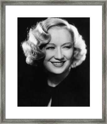 Miriam Hopkins, 1933 Framed Print by Everett