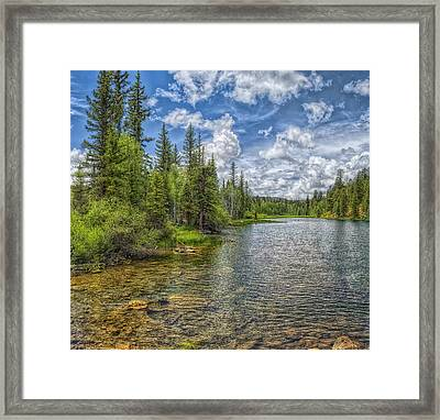 Mirror Lake Framed Print by Stephen Campbell