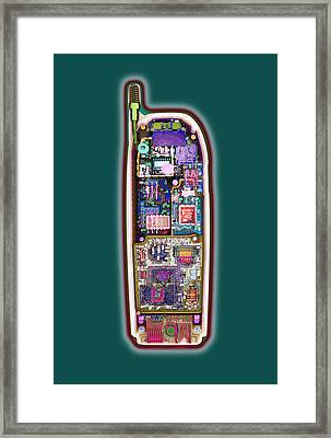 Mobile Phone, X-ray Framed Print
