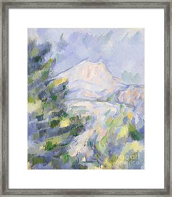 Mont Sainte-victoire Framed Print by Paul Cezanne