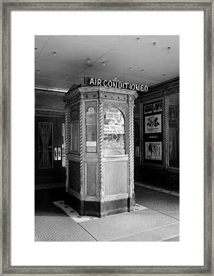 Movie Theaters, The Garden Theater Framed Print by Everett