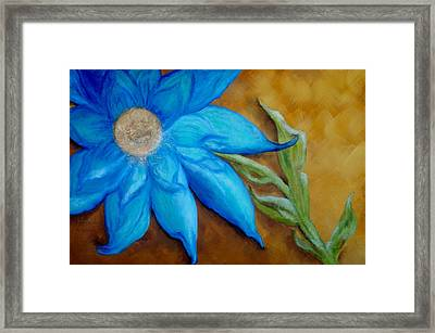 Framed Print featuring the painting My Only Sunshine by Annamarie Sidella-Felts