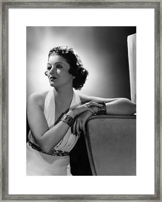Myrna Loy, Mgm Portrait By Clarence Framed Print