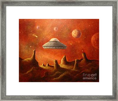 Mysterious Planet Framed Print by Randy Burns