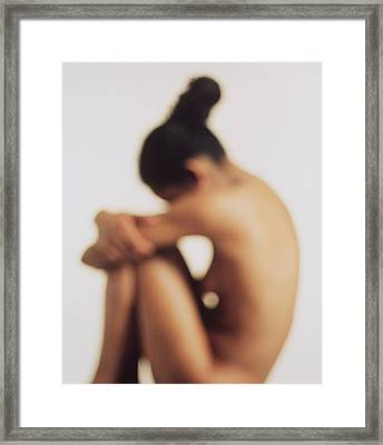 Naked Woman Framed Print by Cristina Pedrazzini