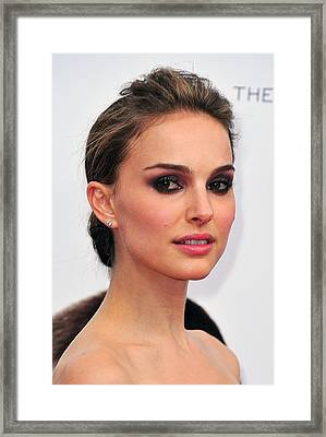 Natalie Portman At Arrivals Framed Print