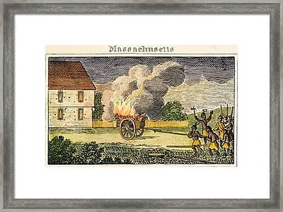 Native American Attack, 1675 Framed Print