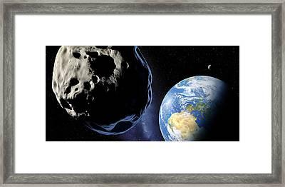 Near-earth Asteroid, Artwork Framed Print by Detlev Van Ravenswaay