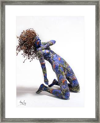 Nectar A Sculpture By Adam Long Framed Print