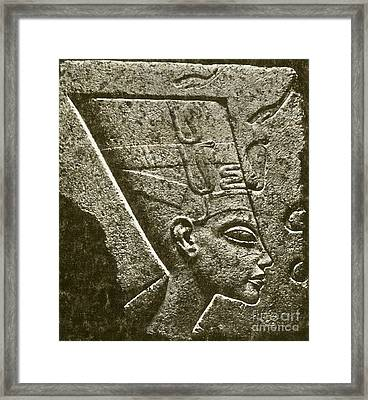 Nefertiti, Ancient Egyptian Queen Framed Print by Science Source