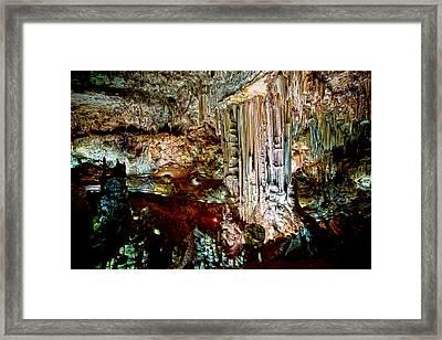 Nerja Caves In Spain Framed Print by Artur Bogacki