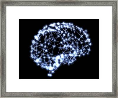 Neural Network Framed Print by Pasieka