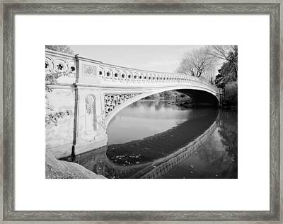 New York City, Central Parks Bow Framed Print