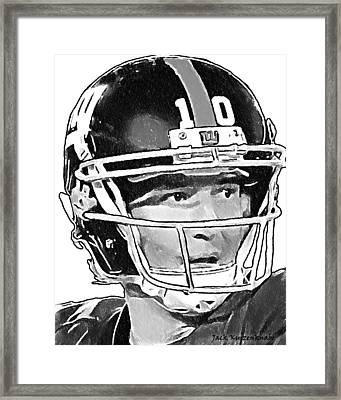 New York Giants  Eli Manning Framed Print by Jack K