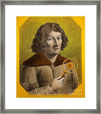 Nicolaus Copernicus, Polish Astronomer Framed Print by Omikron