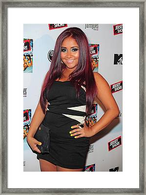 Nicole Snooki Polizzi At Arrivals Framed Print