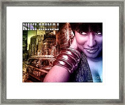 Niki Minaj Framed Print by The DigArtisT