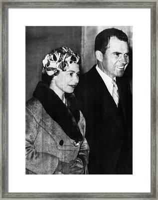 Nixon Vice Presidency.  Vice President Framed Print by Everett