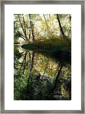 Framed Print featuring the photograph Oak Creek Reflection by Tam Ryan