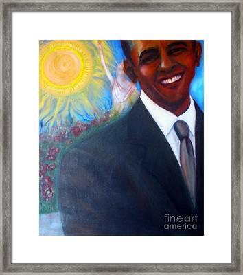 Obama Framed Print by Jenny Goldman
