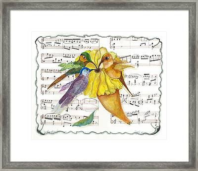 2 Of 2 - Natures Symphony-in Three-part Harmony Framed Print