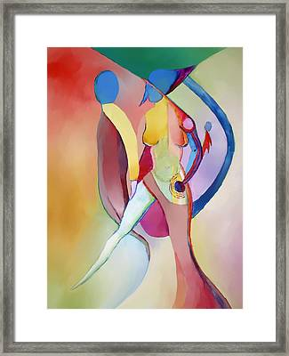 2 Of Us Facing Right Framed Print by Peter Shor