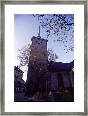 Old Church In Norway Framed Print by Thomas D McManus