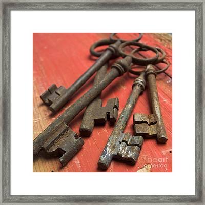 Old Keys Framed Print by Bernard Jaubert