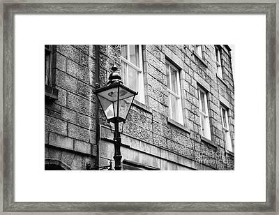 Old Sugg Gas Street Lights Converted To Run On Electric Lighting Aberdeen Scotland Uk Framed Print by Joe Fox